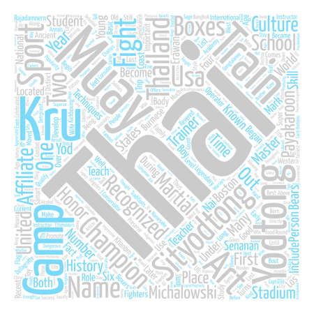 qualify: Sityodtong Muay Thai Legacy Word Cloud Concept Text Background