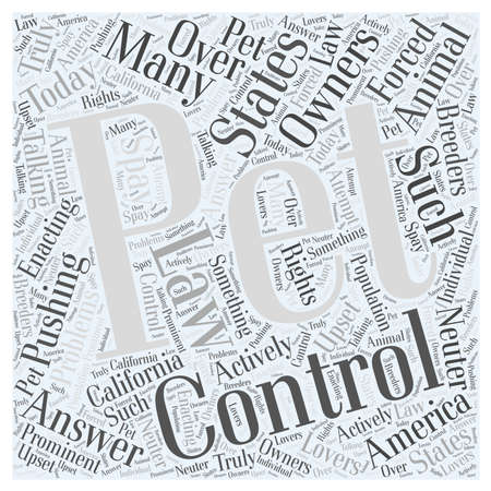 Animal Control Word Cloud Concept