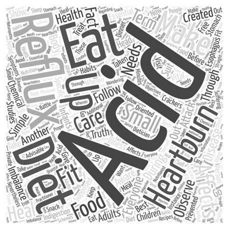 heartburn: Acid reflux diet Word Cloud Concept Illustration