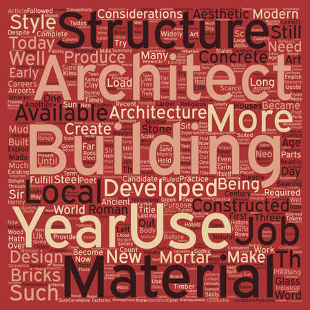 considerations: Architecture text background word cloud concept