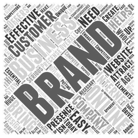 distinguishes: Business and branding related word cloud concept