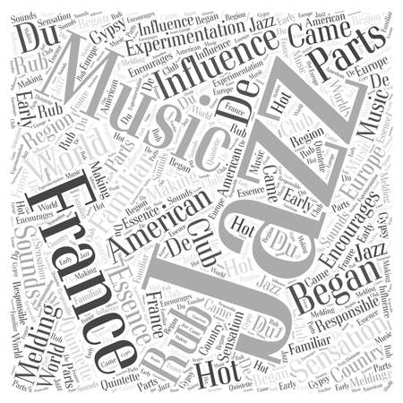 sensation: American Influence of Jazz Word Cloud Concept Illustration