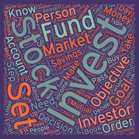 Are you a stock investor text background wordcloud concept