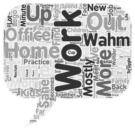 mostly: Are You A Mostly Sane WAHM Too text background wordcloud concept