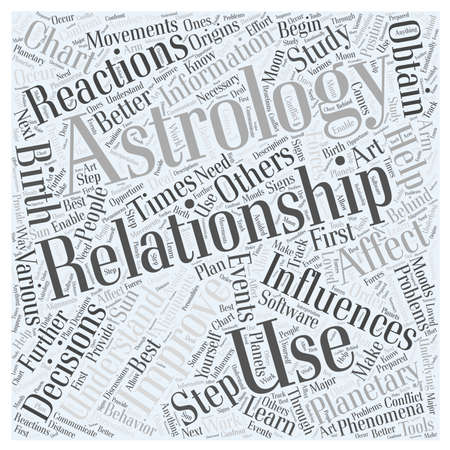 obtain: Astrology improves relationships Word Cloud Concept