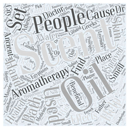 hippocrates: Aromatherapy Word Cloud Concept