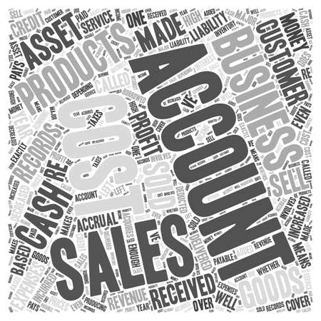 accrual: Assets and liabilities Word Cloud Concept