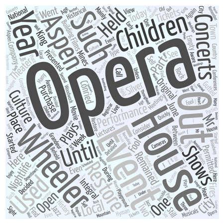aspen nightlife the wheeler opera house Word Cloud Concept Banco de Imagens - 74621920