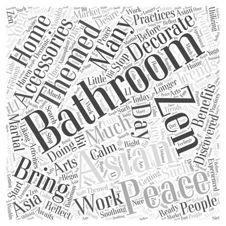 discovered: Asian themed bathroom accessories word cloud concept