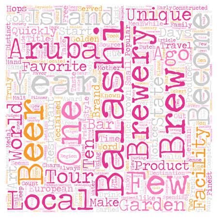 Aruba s Golden Brew text background wordcloud concept