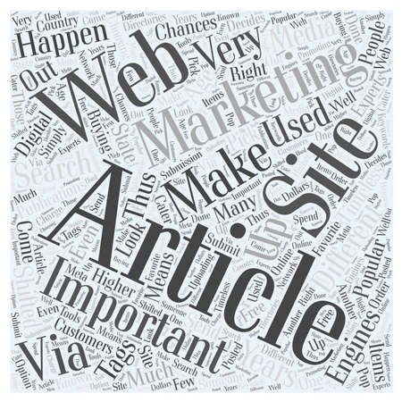 article marketing: Article Marketing Is Important Word Cloud Concept
