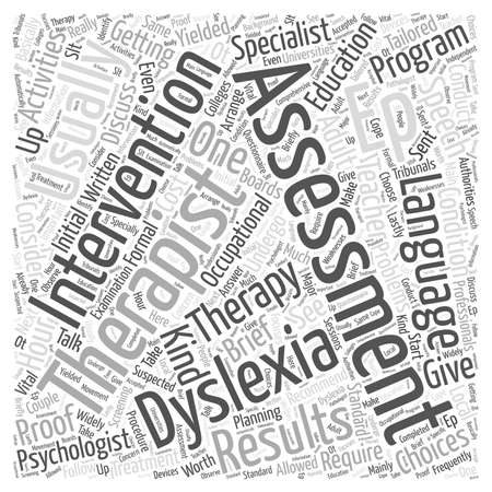 suspected: Assessment Choices For Adult Dyslexia Word Cloud Concept Illustration