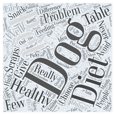 mostly: Avoid Table Scraps in Your Dogs Diet Word Cloud Concept Illustration