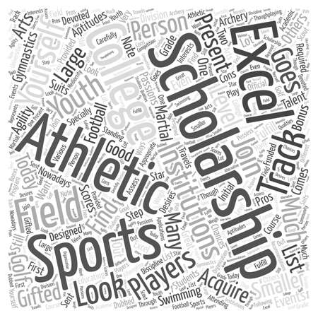 excel: Athletic college scholarship word cloud concept