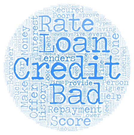 Bad Credit Loan text background wordcloud concept