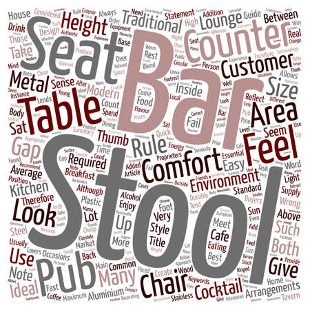 common sense: Bar stools a buyers guide text background wordcloud concept