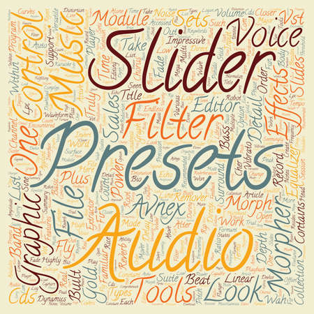 looked: Avnex music morpher gold a closer look text background wordcloud concept Illustration