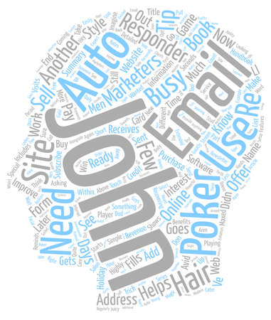 avid: Auto responders the marketers magic trick text background wordcloud concept Illustration