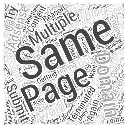incorrect: Avoid getting your adsense account terminated word cloud concept