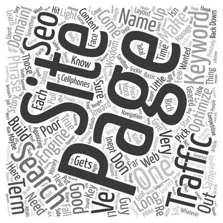 agonizing: Basic SEO Wisdom text background wordcloud concept