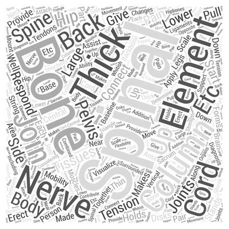 Back pain and diagnosis word cloud concept Vectores