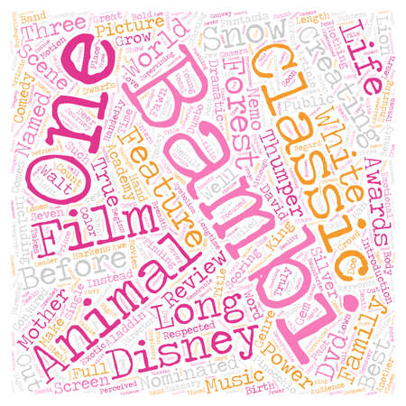 Bambi dvd review text background wordcloud concept