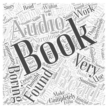 Livres audio Nuage de mots Concept