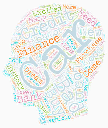 Bad credit car loans what to do to get financed text background wordcloud concept