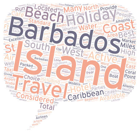 Barbados Holidays text background wordcloud concept