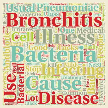 Bacterial bronchitis text background wordcloud concept Illustration