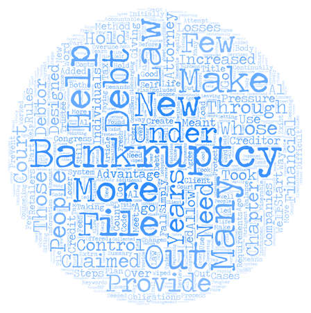 Bankruptcy Law Changes Designed To Hold Debtors Accountable text background wordcloud concept