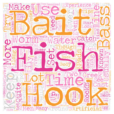 Bass fishintips text background wordcloud concept Illustration