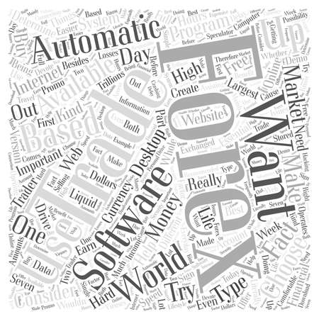 forex trading: automatic forex trading software Word Cloud Concept