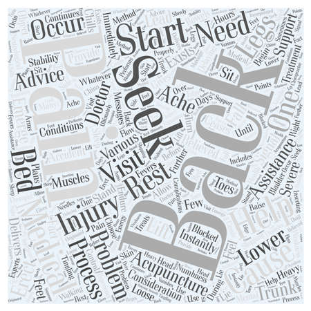 Back Pain and Considerations Word Cloud Concept Illustration