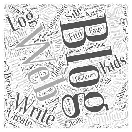 exciting: Blogging Really Is An Exciting Way To Write On Line Word Cloud Concept