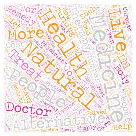 Benefits Of Alternative Medicine text background wordcloud concept