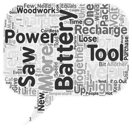 freeing: Battery Powered Tools How to Get the Most From Them text background wordcloud concept