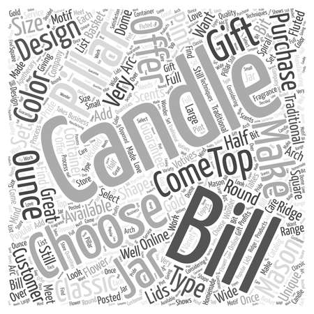 mason: Bills Candles Word Cloud Concept