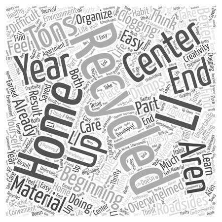 tons: Beginning Recycling at Home Word Cloud Concept Illustration