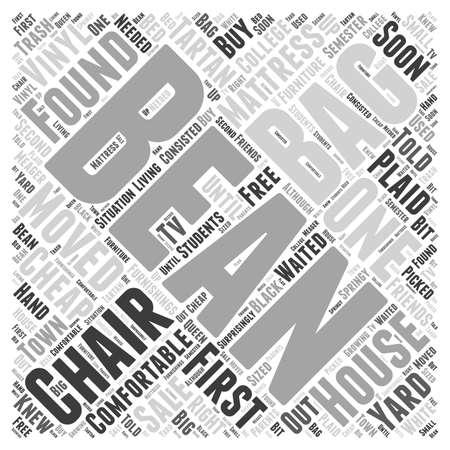 bean bag chair Word Cloud Concept Illustration