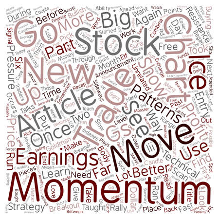 Better Trades Momentum Part 2 text background wordcloud concept