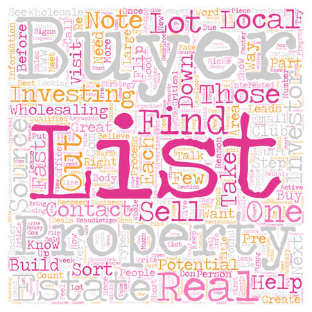 Build Your Buyers List text background wordcloud concept