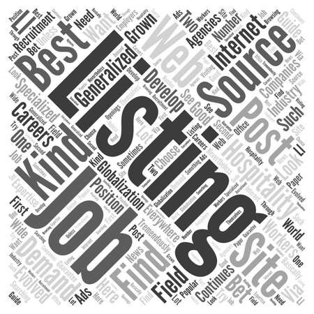 listings: Best Sources For Hospitality Job Listings Word Cloud Concept