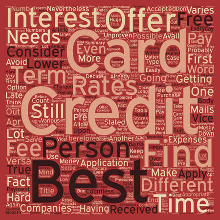 Best Credit Card Offer Is Still Possible text background wordcloud concept