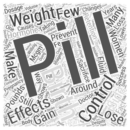 multiple birth: Birth Control Pills and Weight Loss Word Cloud Concept Illustration