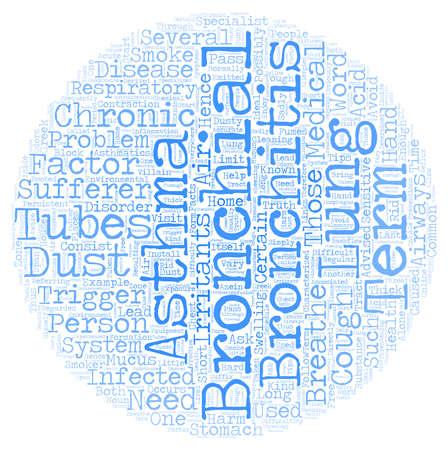 chronic bronchitis: bronchitis asthma text background wordcloud concept Illustration