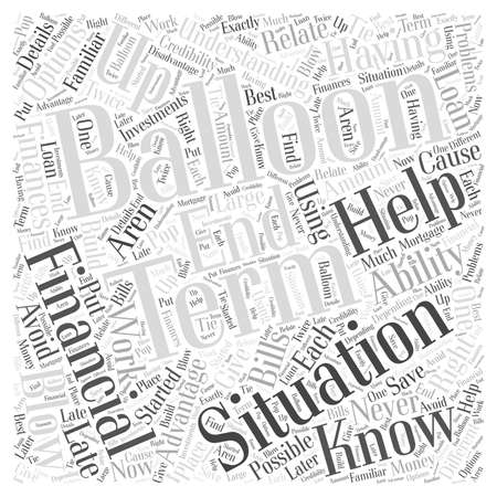Blowing Up Bills With Balloons Word Cloud Concept Illustration