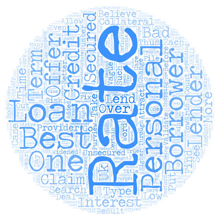 Best Rate Personal Loans One of the Most Sought After Features text background wordcloud concept Illustration