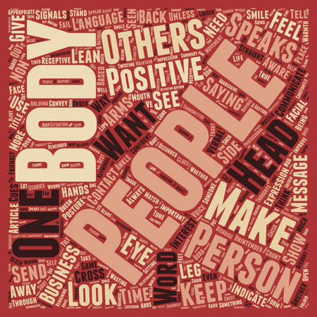 louder: Body Language Speaks Louder Than Words text background wordcloud concept