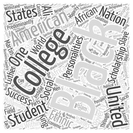 black college scholarship student Word Cloud Concept